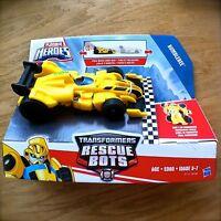 Transformers RESCUE BOTS Bumblebee Pull-back Race Car PLAYSKOOL HEROES Hasbro
