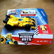 Transformers RESCUE BOTS Bumblebee Pull-back Race Car PLAYSKOOL HEROES Hasbro