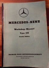 RARE 1959  MERCEDES-BENZ Workshop-Manual Type 190,Daimler Collectible