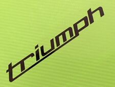 Triumph logo decals stickers PAIR for track or road bike fairing ref #25