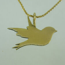 Bird pendant,Bird gold chain,Bird Necklace,Gold Bird chain,love Bird pendant,14
