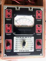 Weston Model 772 Analyzer Multimeter Test Set - Amps, Ohms, Volts, Decibels