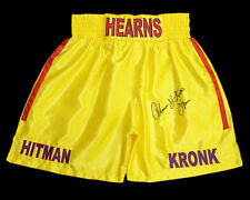 *New* Tommy Hearns Signed Custom Made Boxing Trunks