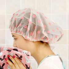 Waterproof Shower Cap Bath Hair Cover Hat Bathroom Products With Elastic Band