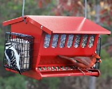 New Heritage Farms Seeds and More Double Sided Bird Feeder Red