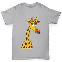 Twisted Envy Boy's Funny Grumpy Giraffe Funny T-Shirt