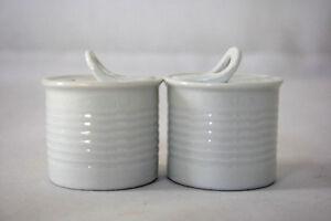 Salz und Pfeffer Streuer Dosen Form 5 cm Weiß Keramik Geschenk Mitbringsel