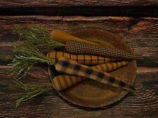 Primitive Carrot Bowl Fillers ~ Pumpkin Spice Homespun Fabric ~ Farmhouse Ornies