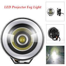 Car LED Projector Fog Light Round  Angel Eye Truck 12V Working Lamp  6000K