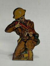 Vintage 1930s MAR - MARX Lithograph Tin Soldier Infantry Private # 10 points