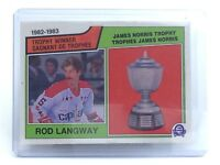 1983-1984 Rod Langway #207 Washington Capitals OPC O-Pee-Chee Hockey Card H703