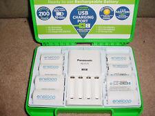 NEW Panasonic Eneloop Charger BQ-CC75 + 4 C & 4 D Adapters + Case (NO Batteries)