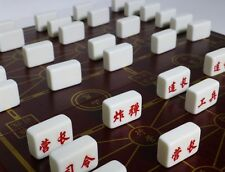 LUZHANQI DELUXE,CHINESE LAND BATTLE ARMY CHESS (like Stratego) with RULES (842)