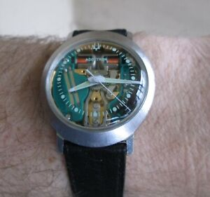 Vintage Accutron Spaceview 1970 Stainless Steel Oval Case Ref 3024 - Serviced