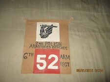 WWII 2ND POLISH AMOURED BRIGADE 6TH ARM TANK /TRUCK COMMAND POST   PENNET FLAG