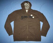 QUIKSILVER Men's XL Hoodie sherpa lined brown full zip