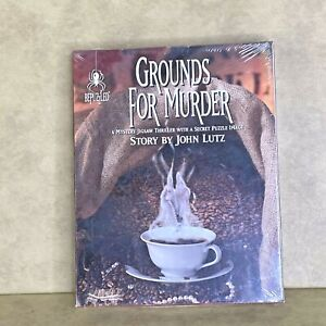 BePuzzled Grounds for Murder 1000 Piece Jigsaw Puzzle Mystery New Sealed 1994