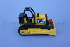 P348 Ancien engin de tp scraper buldozer jaune metal occasion 11 cm