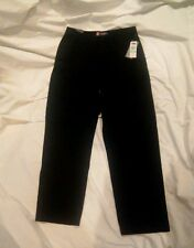 Chaps Men's 100% Cotton Black Twill Relaxed Fit Pants Size 34x32 New With Tags