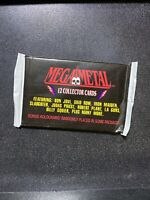 1991 Mega Metal Megametal Unopened Trading Card Pack HEAVY METAL Hard Rock New!