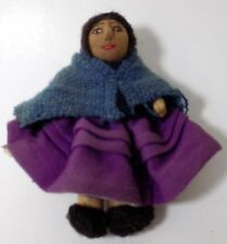 Vintage Hand Made Doll Bolivia 3 Layers Wool Skirts