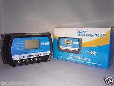 30A SOLAR PANEL CHARGE CONTROLLER REGULATOR 30AMP 12V 24V DIGITAL DISPLAY & USB