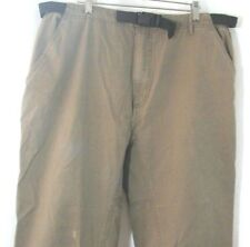 "Vtg Sahalie Green Khaki Hiking Pants Size 40 Rugged 100% Cotton Belted 29"" IS"