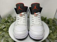 Nike Air Jordan 5 V Retro Cement Size 10 White University Red Black 136027-104