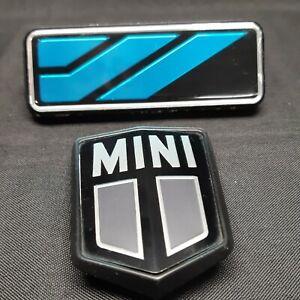 Ancien badge logo monogramme Austin Mini capot calandre 1969 96 pièce accessoire