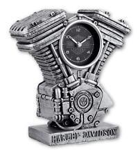 Genuine Harley Davidson Scuplted Resin Engine Clock Aged Silver Finish 99202-17V
