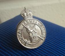 Vintage Silver Lapel Badge / Brooch - Royal Army Reserve  h/m 1938 James Fenton