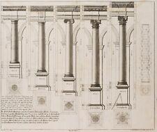 J.PROBST, Antike Säulenordnungen nach Vincenzo Scamozzi (*1548), 18.Jhd., KSt
