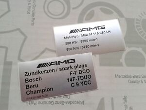 2 rare Mercedes-Benz AMG sticker 500E E500 6.0 E60 W124 M119.974