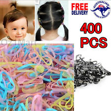 400 Pcs/ BAG TINY Colorful Kids Girls Baby Hair Holders Rubber Bands Elastic Gum