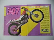 advertising Pubblicità 1989 MOTO FANTIC TRIAL 307