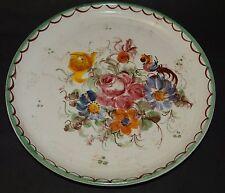 """2 Wandteller """"Ulmer Keramik"""" Blumenmalerei, D-22 und 2 (257/2024)"""