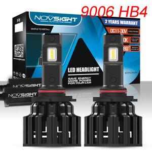 NOVSIGHT 9006 HB4 100W 20000LM/Pair Car LED Headlight Kit Bulbs Lamp 6000K White