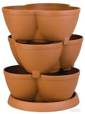 Flower Pots Planter Garden Container Stacking Outside Gardening Vegetables Herbs