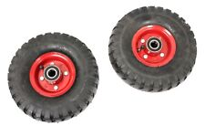 "2 x 10"" HEAVY DUTY AIR WHEEL TYRE RIDE-ON MOWER TROLLEY CART GO-KART 6PLY 180KG"