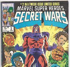 Marvel Super Heroes Secret Wars #2 Avengers & X-Men from June 1984 in VG DM