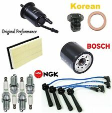 Tune Up KIT Air Oil Fuel Filters Plugs Wire for Kia Rio 1.6L 2003-2004