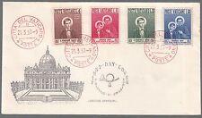 Vaticano FDC 1957 1° centenario della morte Savio Ed. ARIMINUM - CAPITOLIUM 4V.