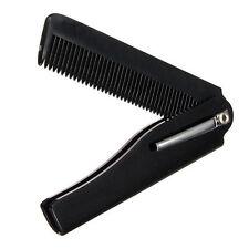 1x Piece Handmade Folding Pocket Clip Hair Mustache Beard Comb