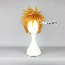 Kingdom HEARTS ROXAS FASHION ANIME Golden corto a Strati Stile Cosplay Parrucca Capelli