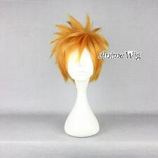 Kingdom Hearts Roxas Fashion Anime Golden Short Layered Style Cosplay Hair Wig
