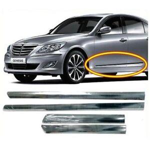 Chrome Side Door Garnish Trim Molding SET OEM 4PCS for 2009-2014 Hyundai Genesis