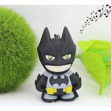 1PC Lindo LED Batman voz colgante Dibujos animados Plástico creativa llavero