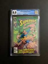 SUPERMAN: THE MAN OF STEEL #17 (11/92) (W/P) CGC 8.0 NEW CASE!