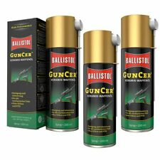 (77,43€/1l) BALLISTOL 3 Stück 200 ml GunCer Keramik-Waffenöl Spray Waffenpflege