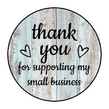 "30 1.5"" THANK YOU HEARTS WOOD SHIPPING LABELS ENVELOPE SEALS ROUND STICKERS***"